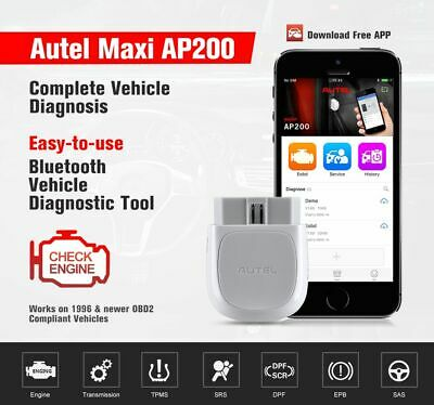 Autel MaxiAP AP200 Code Reader with Full Systems Diagnoses AutoVIN TPMS IMMO