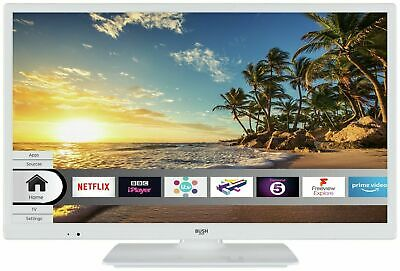 "Bush 24"" HD Ready Smart Freeview Play WiFi TV/DVD Combi - White. 1 Year Warranty"