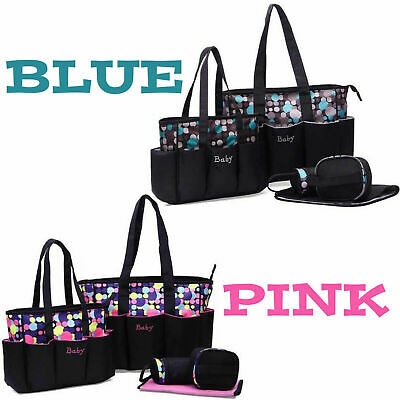 5pcs  Mummy Maternity Baby Nappy Diaper Changing Bag Set Wipe Clean Hospital Bag