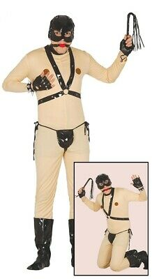 Mens Gimp Costume Stag Do Fancy Dress Adult Male Bondage Outfit Size Medium