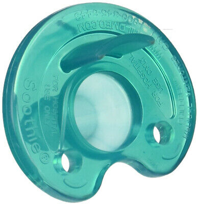 Philips Notched Newborn NICU Soothie Pacifier, Green, 0-3 Months, Hospital -