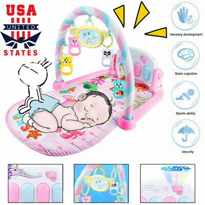 3 in 1 Baby Light Musical Gym Play Mat Lay & Play Fitness Fun Piano US a8k