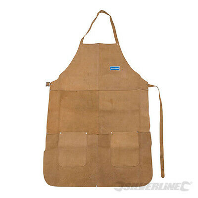 Silverline Heavy duty leather Welders Apron Full Length (633505)