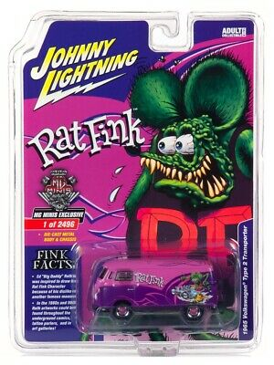 IN STOCK  Johnny Lightning VW Bus Rat Fink MgMinis Exclusive 2019