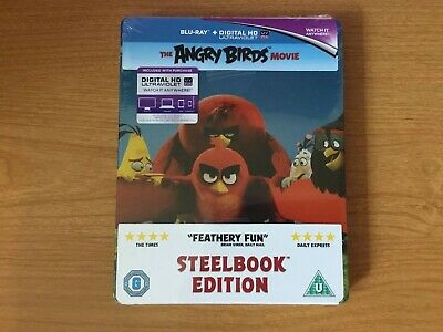 The Angry Birds Movie Blu Ray Steelbook Brand New Sealed