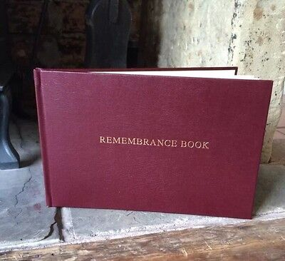 Book Of Remembrance Book Of Condolence In Loving Memory Memorial Guestbook