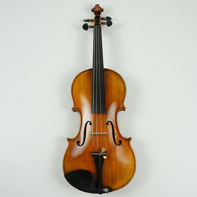 Master Violin 4/4 Full Size Handmade Flame Maple Back Russian Spruce Top #V02