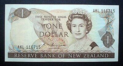 NEW ZEALAND (Russell) ~ QUEEN ELIZABETH II ~ 1 DOLLAR 1981 v/f.