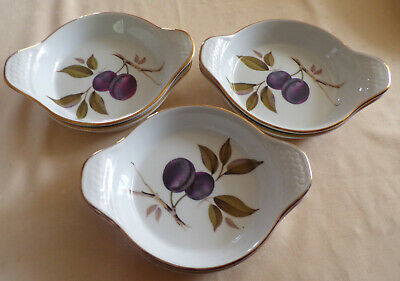 Royal Worcester - Evesham Gold - 6 Entrée Dishes - Oven to Table - Top!