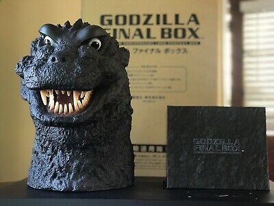 GODZILLA FINAL BOX - COMPLETE SET!!! DVD Set, Poster Book, Bust, Display Stand