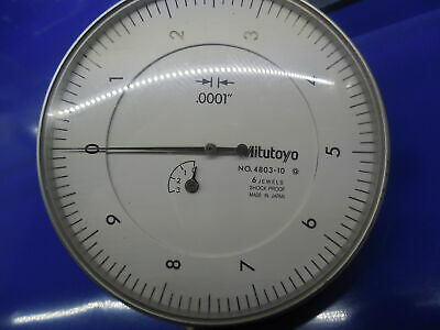 "Mitutoyo 4803-10 6 Jewels (.0001""-0.25"") Dial Indicator Measuring Inspection"
