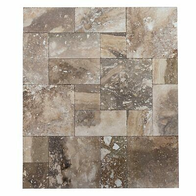"Conglomerate Antique Pattern Travertine Tile-Brushed&Chiseled-Sample Order 4""x4"""