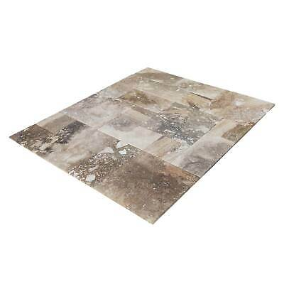 "Conglomerate Antique Pattern Travertine Tile - Tumbled - Sample Order 4""x4"""