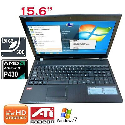 Acer Aspire 5552 AMD Athlon 2.4GHz 4GB 120GB SSD Laptop Radeon HD 4200 Graphics