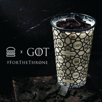 GAME OF THRONES Shake Shack x Dragonglass GOT Limited Edition Unused Cup + Bag!