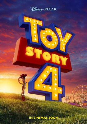 TOY STORY 4 MOVIE POSTER 2 Sided ORIGINAL Advance Ver B 27x40 TOM HANKS DISNEY
