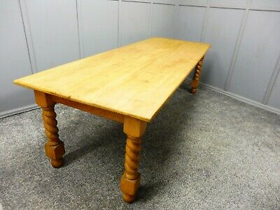 Antique Pine Farmhouse Dining Table