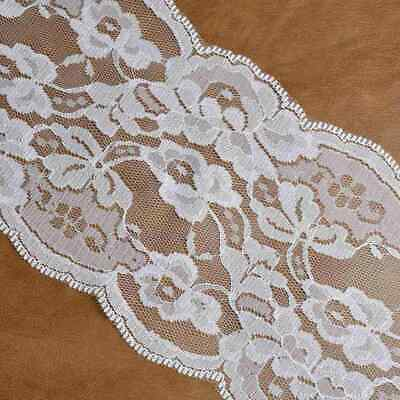 2 Yards Stretch Elastic Lace Ribbon Wide Trims EdgeTtrimmings Sewing Width13.5cm