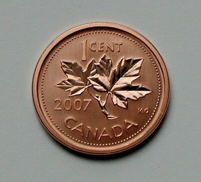 2007 CANADA Elizabeth II Specimen Coin - 1 Cent - BU satin UNC (from mint set)