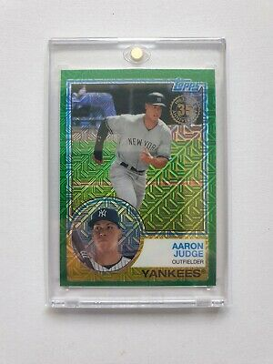 2018 Topps Aaron Judge '83 Green Refractor #/99 Yankees