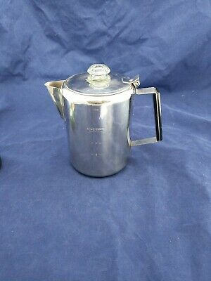 9 Cup Vintage Stainless Steel Percolator Coffee Maker Pot Stove Top