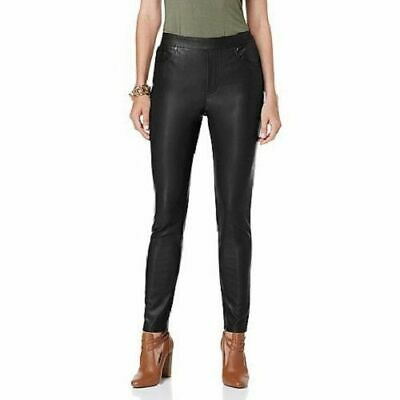 5bfd8279ba044 NWOT ~ DG2 ~Diane Gilman Luxe Faux Leather SKINNY JEGGINGs - Black ~