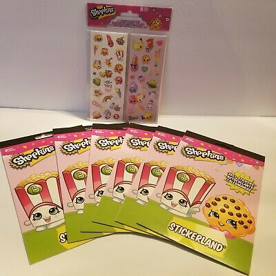 16 Sheets Shopkins 400 stickers//8 Sheets 48 Tattoos Teacher supply Party Favors