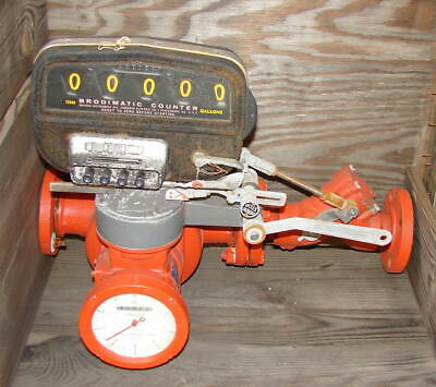"""Brooks carbon steel flow meter 2"""" inlet and outlet Brodimatic readout - rebuilt"""