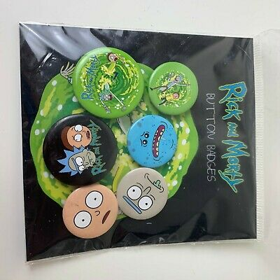 Sanchez Button 38mm Cartoon Badge Rick and Morty Line up Pin