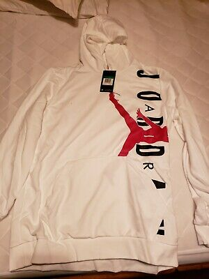 6a9133a9 MEN JORDAN AIR JORDAN JUMPMAN FULL ZIP FLEECE HOODIE HBR Nike NWT WHITE XL