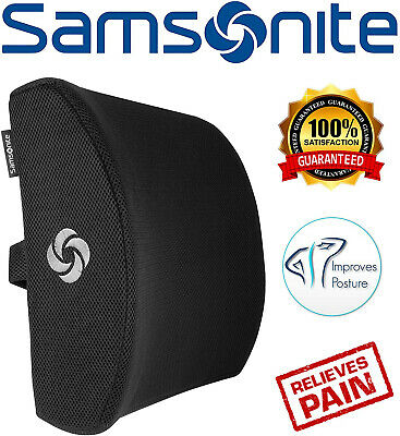 Samsonite SA5243 - Ergonomic Lumbar Support Pillow - Helps Relieve Lower Back -