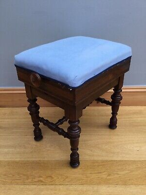 Victorian Rise Fall Piano Stool Maker Marsden Music Chair Dressing Table Seat