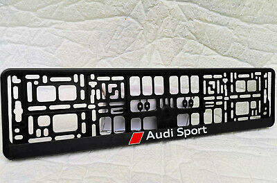 Audi Sport Number Plate Surrounds -  *Special Offer* (1 Pair) Large Text