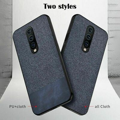 For Oneplus 7 Pro Slim Leather Hybrid Fabric Shockproof Matte Back Case Cover