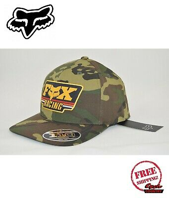 finest selection 7ac88 ac87f Fox Racing Brand Hat Adult Throwback Camo 110 Snapback New Free Shipping