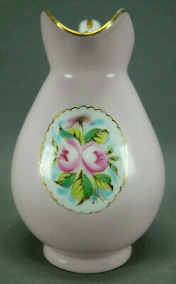 Late 19th Century German / Austrian Hand Painted Pink Rose & Gold Creamer