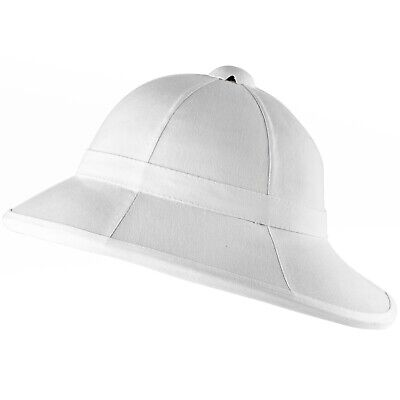 British Military Wolseley Pith Helmet Replica in White Colonial Sun Hat