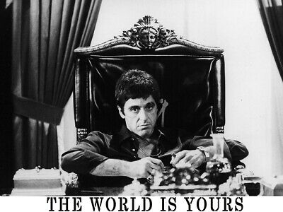 THE WORLD IS YOURS Scarface Pacino Gigantic HD Print POSTER Multi SIzes