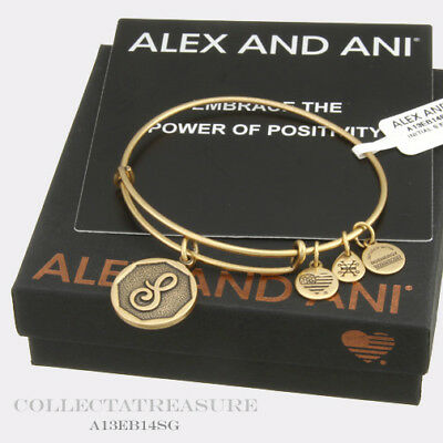 Authentic Alex and Ani Initial A Two Tone Sterling Silver CHARM