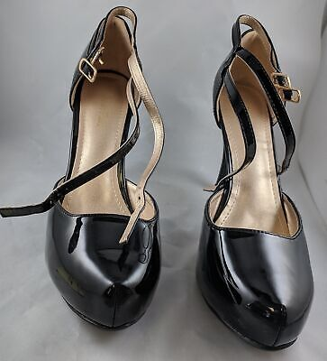 dd68b5eafb153 DREAM PAIRS Mary Jane Double Ankle Strap High Heel Pumps, Sizes Left 12  Right 11
