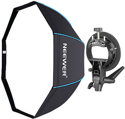 Neewer 32 inches/80 centimeters Octagonal Softbox with Blue Edges, S-Type (with