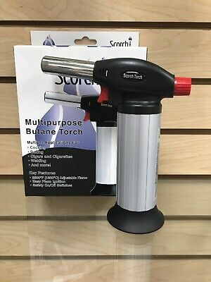 "Scorch Torch Large 7"" Heavy Duty Lighter Asjustable/Refillable Silver"