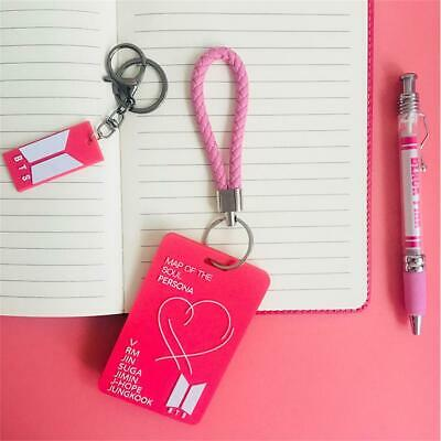Kpop BTS Map of the Soul Persona Keychain Cute ID Badge Holder Case JIMIN SUGA V