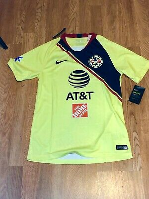20723f0e5f0 Nike Mens Club America 2018/19 Home Jersey Yellow/Navy Size S NWT 100