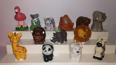 FISHER-PRICE LITTLE PEOPLE Lot 10 Zoo Animals Pet Tiger