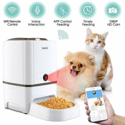 Iseebiz Feeder Automatic Cats/ Dogs with Camera HD Wifi with App Control 6 L.