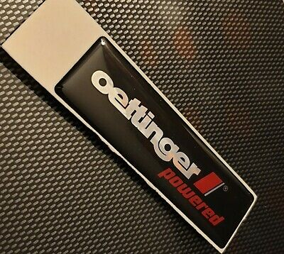 Genuine Oettinger Powered Gel Badge Emblem Logo Silver/Black/Red Oe70110000