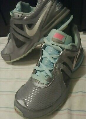 free shipping 4bf3d e2e4f Nike Size 8 Air Max Limitless Gray   Blue with Pink Logo Pre-Owned