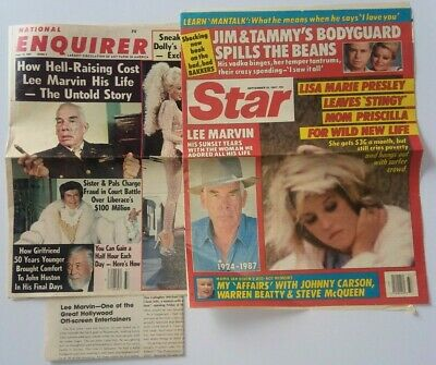 LEE MARVIN RARE collection 5 clippings 1987 obituary