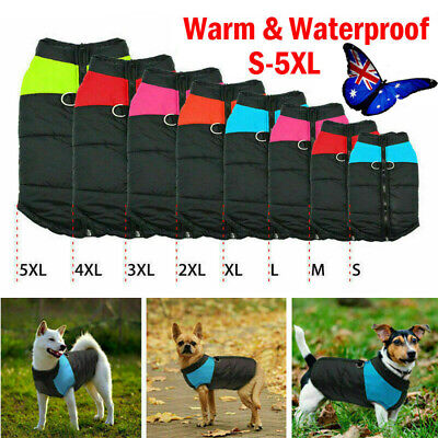Large Dog jacket padded Warm windbreaker Vest Coat Winter waterproof Pet Clothes